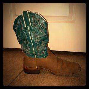Nocona NL4022 Teal/Brown Boots. Sz 10B